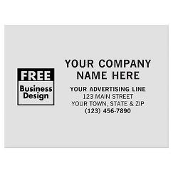 Rectangle 4 x 3 Polyester Label
