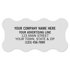 Scallop Polyester Label 2 x 1