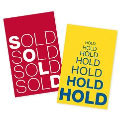 Hold & Sold Reusable Tag Set  2 x 3 1/8, TAG01