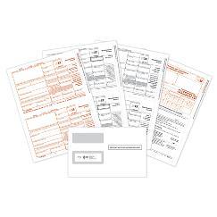 2021 4-pt laser 1099-MISC bundle with envelope, TAX04