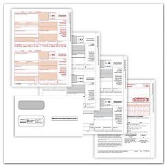 1099NEC LZ PKGD SET 3PT W/ENV (10 EMP), TAX08