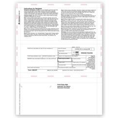 Laser 1099 Interest, Copy B, Pressure Seal