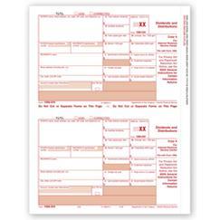 Laser 1099 , Div. Income, Federal Copy A - Bulk Carton