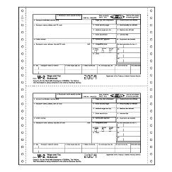 2018 IRS Continuous W-2, Twin Set, Carbonless, Magnetic Media - Tax