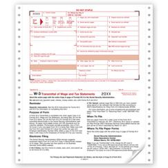 Continuous W-3 Summary/Transmittal, 2-part