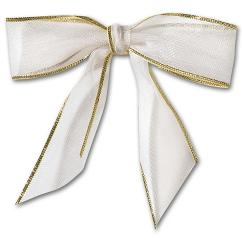 Holiday Card Accessories, White Bow